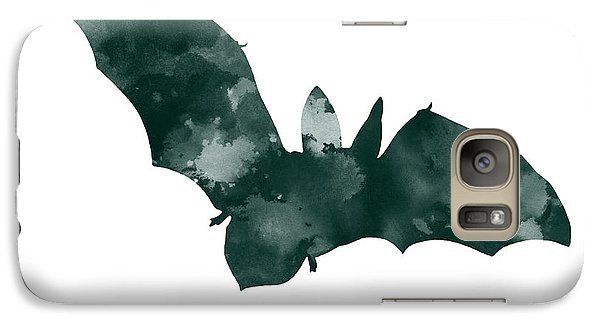 Bat Minimalist Watercolor Painting For Sale Galaxy Case by Joanna Szmerdt