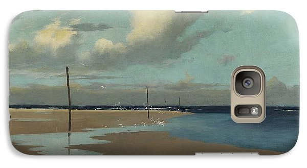 Beach At Low Tide Galaxy Case by Frederick Milner