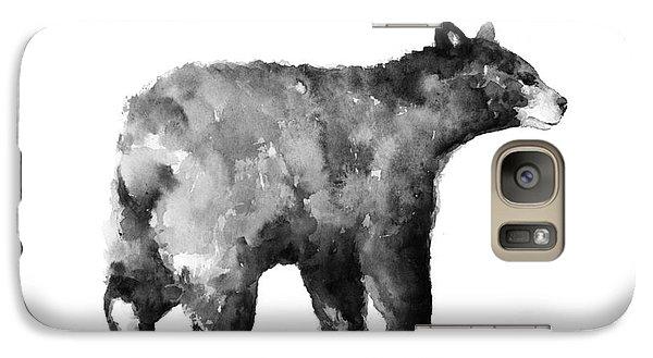 Bear Watercolor Drawing Poster Galaxy Case by Joanna Szmerdt