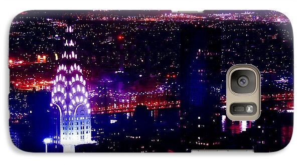Beautiful Manhattan Skyline Galaxy Case by Az Jackson
