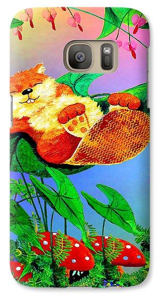 Beaver Bedtime Galaxy S7 Case by Hanne Lore Koehler