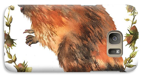 Beaver Painting Galaxy Case by Alison Fennell