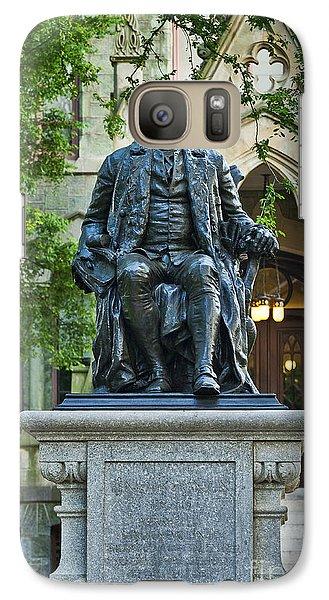 Ben Franklin At The University Of Pennsylvania Galaxy S7 Case by John Greim