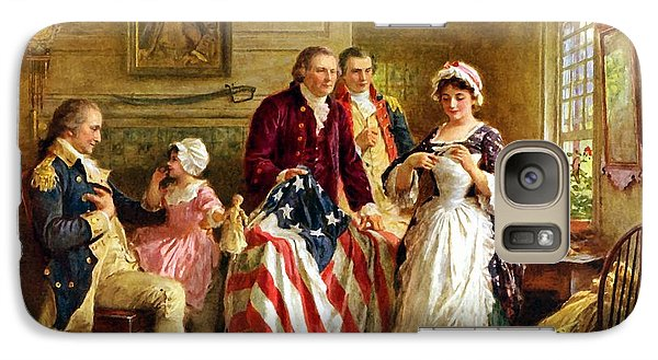 Betsy Ross And General George Washington Galaxy Case by War Is Hell Store