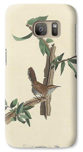 Bewick's Long-tailed Wren Galaxy S7 Case by John James Audubon