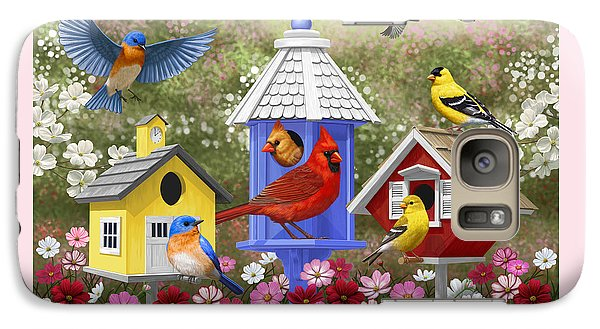 Bird Painting - Primary Colors Galaxy Case by Crista Forest