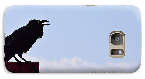 Crow Profile Galaxy S7 Case by Sandy Taylor