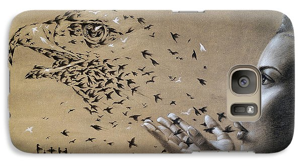 Birds Of Poetry  Galaxy S7 Case by Fithi Abraham