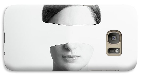 Black And White Abstract Woman Portrait Of Identity Theft Concept Galaxy S7 Case by Radu Bercan
