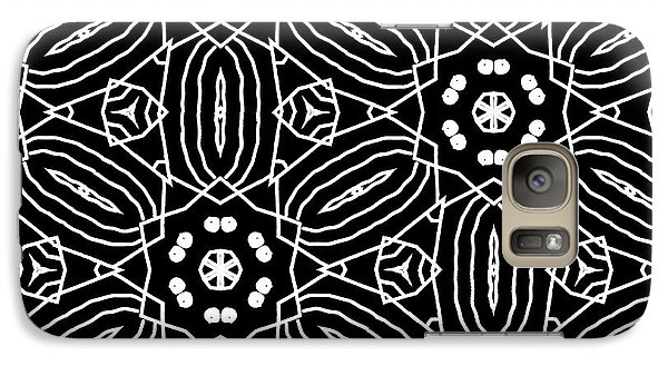 Black And White Boho Pattern 2- Art By Linda Woods Galaxy S7 Case by Linda Woods