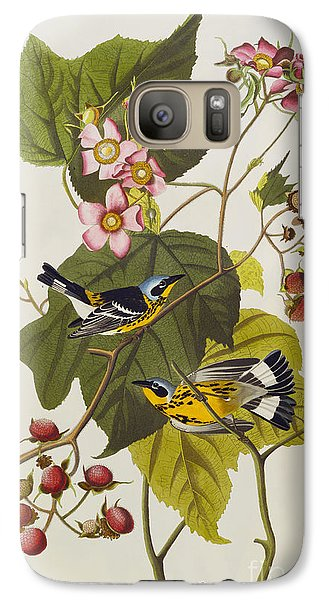 Black And Yellow Warbler Galaxy S7 Case by John James Audubon