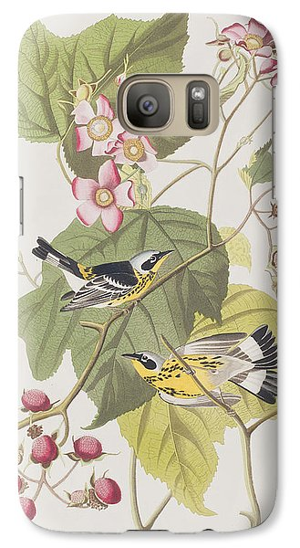 Black And Yellow Warblers Galaxy S7 Case by John James Audubon