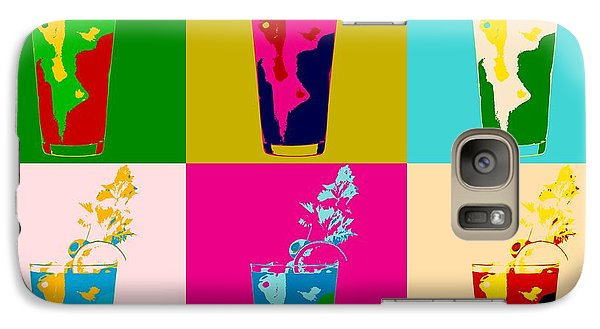 Bloody Mary Pop Art Panels Galaxy S7 Case by Dan Sproul