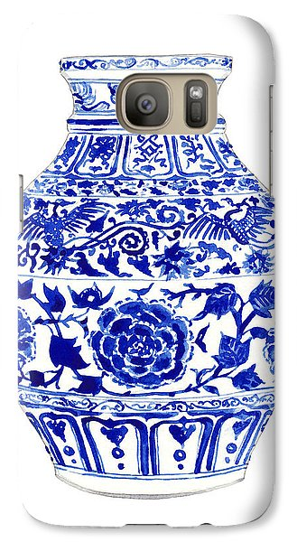 Blue And White Ginger Jar Chinoiserie 4 Galaxy S7 Case by Laura Row