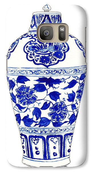 Blue And White Ginger Jar Chinoiserie Jar 1 Galaxy Case by Laura Row