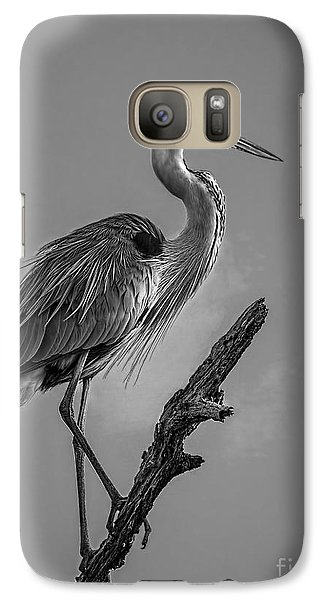 Blue In Black-bw Galaxy Case by Marvin Spates