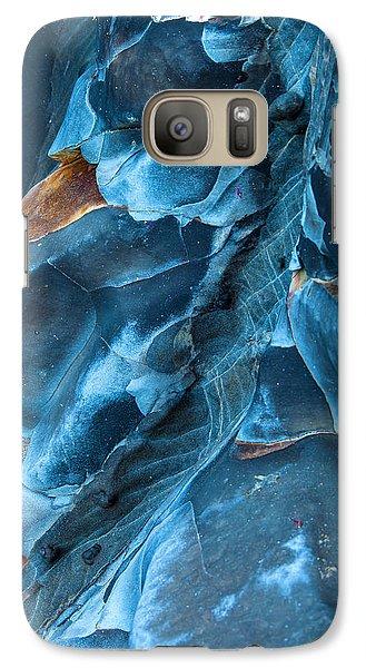 Blue Pattern 1 Galaxy S7 Case by Jonathan Nguyen