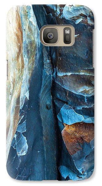 blue Pattern 2 Galaxy S7 Case by Jonathan Nguyen