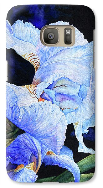 Blue Summer Iris Galaxy S7 Case by Hanne Lore Koehler