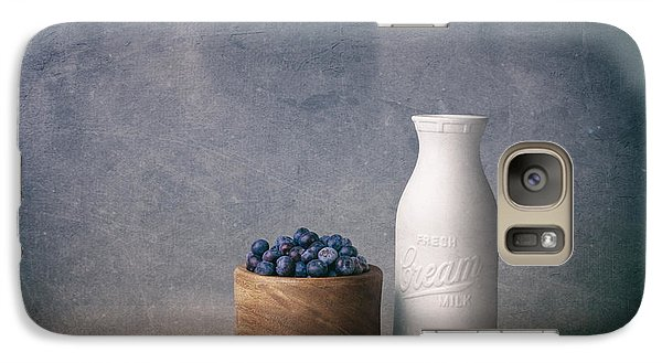 Blueberries And Cream Galaxy Case by Tom Mc Nemar