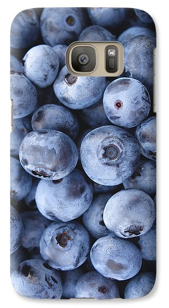 Blueberries Foodie Phone Case Galaxy Case by Edward Fielding