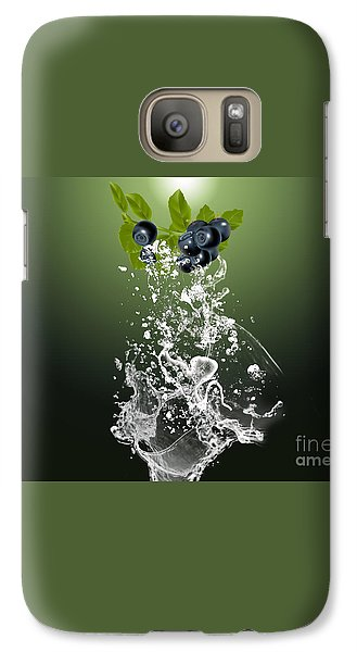 Blueberry Splash Galaxy Case by Marvin Blaine