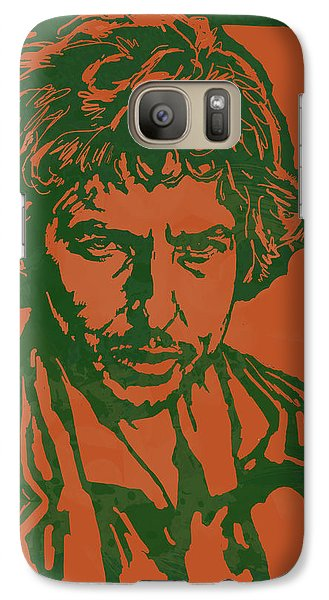 Bob Dylan Pop Stylised Art Sketch Poster Galaxy S7 Case by Kim Wang