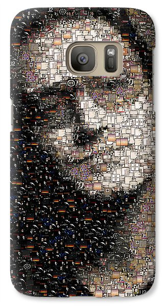 Bono U2 Albums Mosaic Galaxy S7 Case by Paul Van Scott