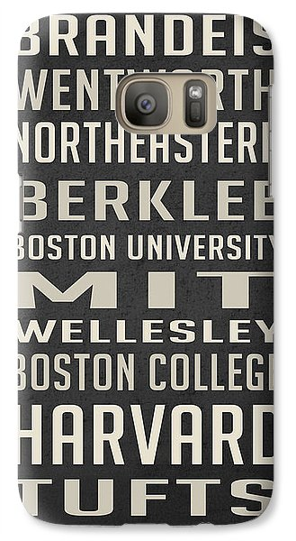 Boston Colleges Poster Galaxy S7 Case by Edward Fielding
