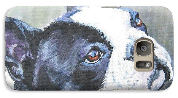 boston Terrier butterfly Galaxy S7 Case by Lee Ann Shepard