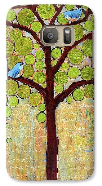 Boughs In Leaf Tree Galaxy Case by Blenda Studio