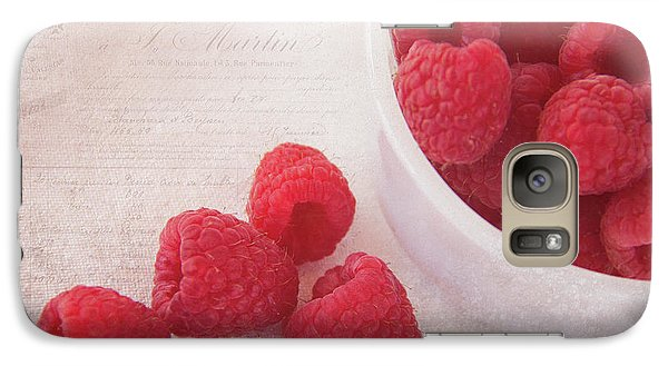 Bowl Of Red Raspberries Galaxy Case by Cindi Ressler