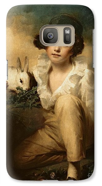Boy And Rabbit Galaxy S7 Case by Sir Henry Raeburn
