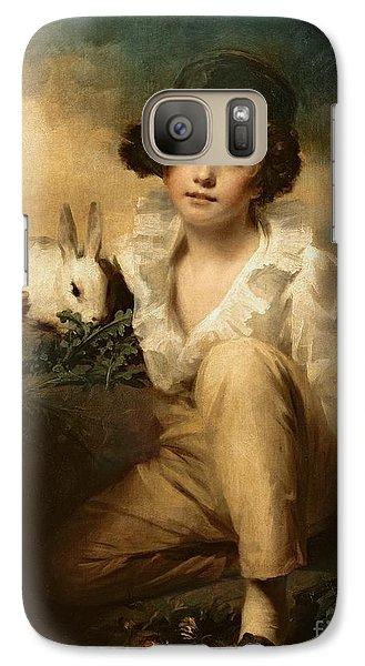 Boy And Rabbit Galaxy Case by Sir Henry Raeburn