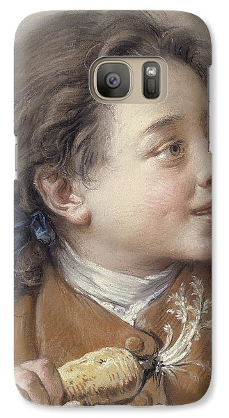 Boy With A Carrot, 1738 Galaxy S7 Case by Francois Boucher