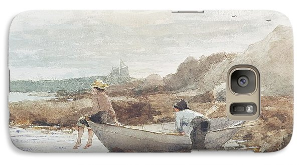 Boys On The Beach Galaxy S7 Case by Winslow Homer