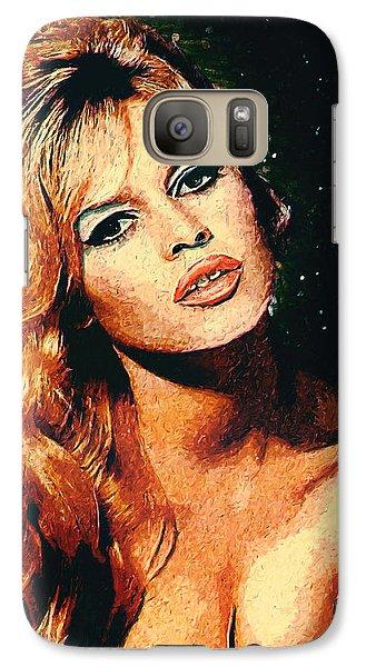 Brigitte Bardot Galaxy S7 Case by Taylan Soyturk