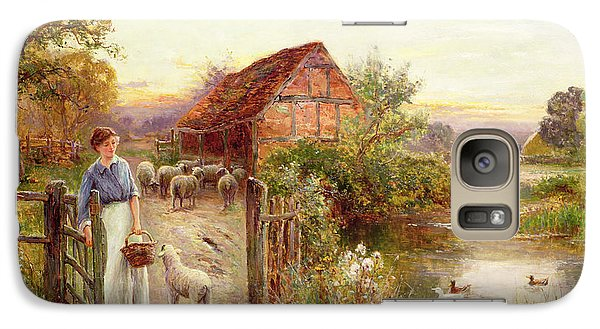 Bringing Home The Sheep Galaxy Case by Ernest Walbourn