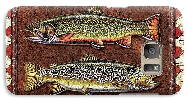 Brook And Brown Trout Lodge Galaxy S7 Case by JQ Licensing