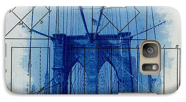 Brooklyn Bridge Galaxy Case by Jane Linders