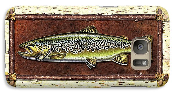 Brown Trout Lodge Galaxy S7 Case by JQ Licensing