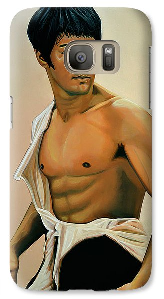Bruce Lee Painting Galaxy Case by Paul Meijering