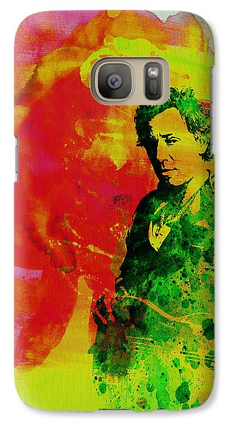 Bruce Springsteen Galaxy S7 Case by Naxart Studio