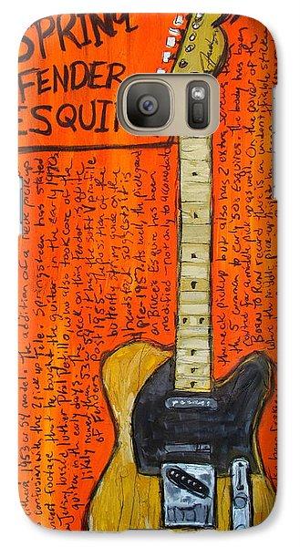 Bruce Springsteen's Fender Esquire Galaxy S7 Case by Karl Haglund