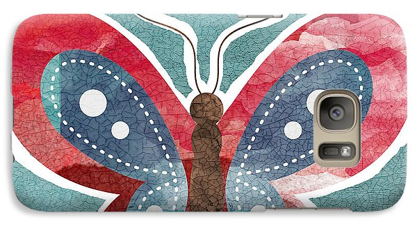 Butterfly Freedom Galaxy Case by Linda Woods