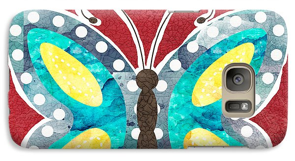 Butterfly Liberty Galaxy S7 Case by Linda Woods