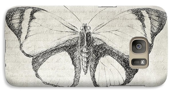 Butterfly Quote - The Little Prince Galaxy S7 Case by Taylan Apukovska