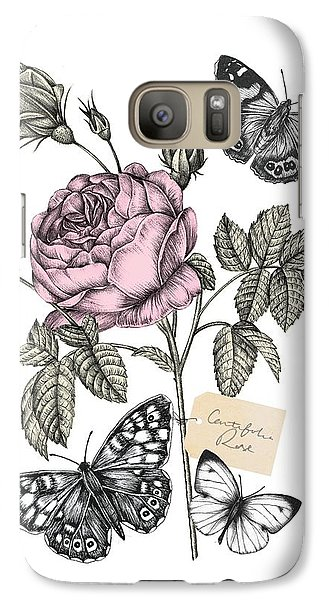 Cabbage Rose Galaxy Case by Stephanie Davies