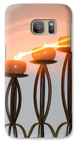 Candles In The Wind Galaxy Case by Kristin Elmquist