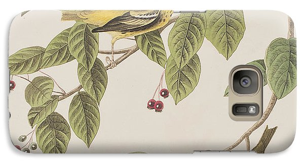 Carbonated Warbler Galaxy S7 Case by John James Audubon